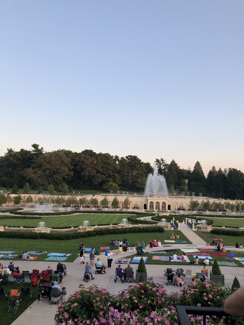 Fountains at Longwood Gardens Evening Stroll from Farmcoast Editorial and Meg Summerfield Studio