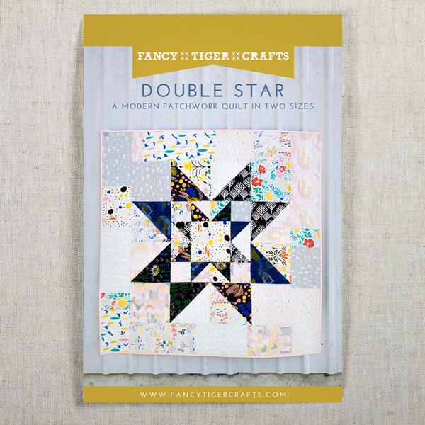 Double Star Quilt - check out the pattern over at fancy tiger craft's website here or the creative bug site for video tutorials (with membership)