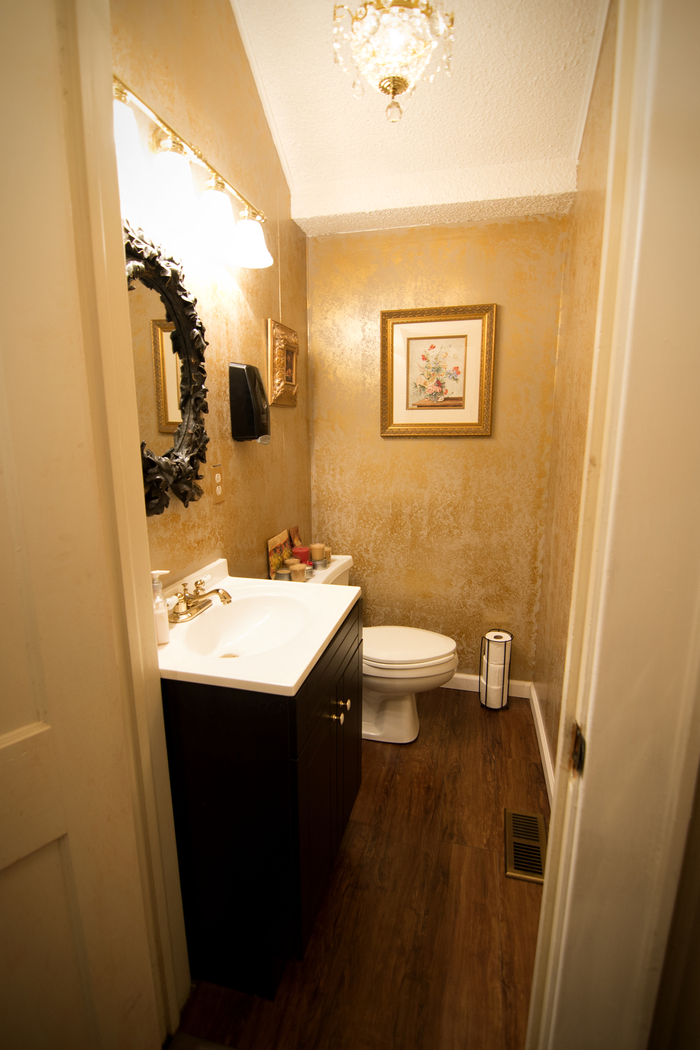 Our space is outfitted with two separate bathrooms for guests