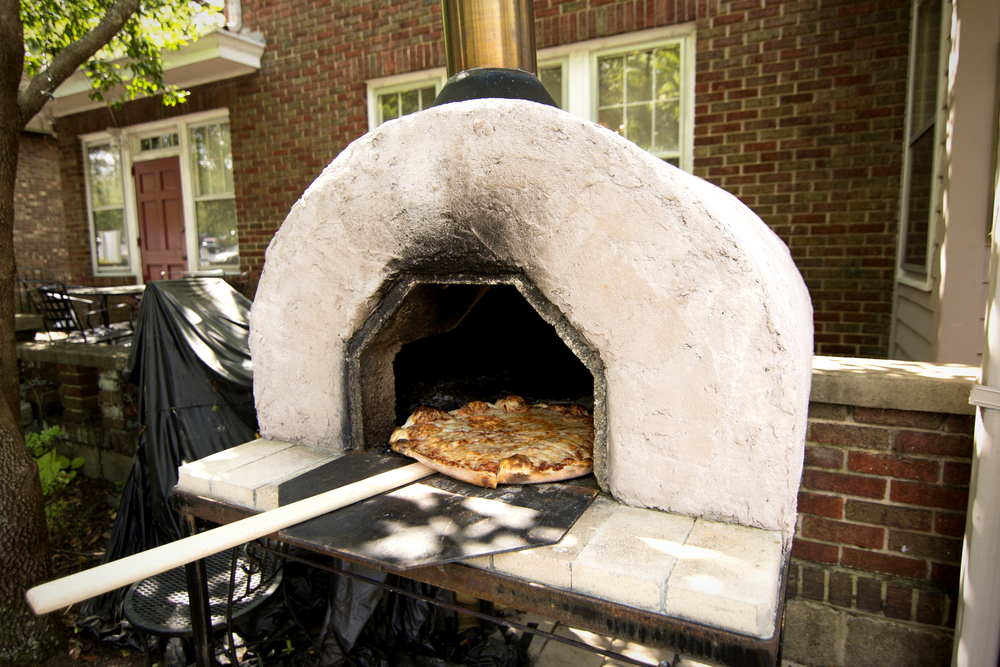 Our authentic wood-burning Neapolitan pizza oven