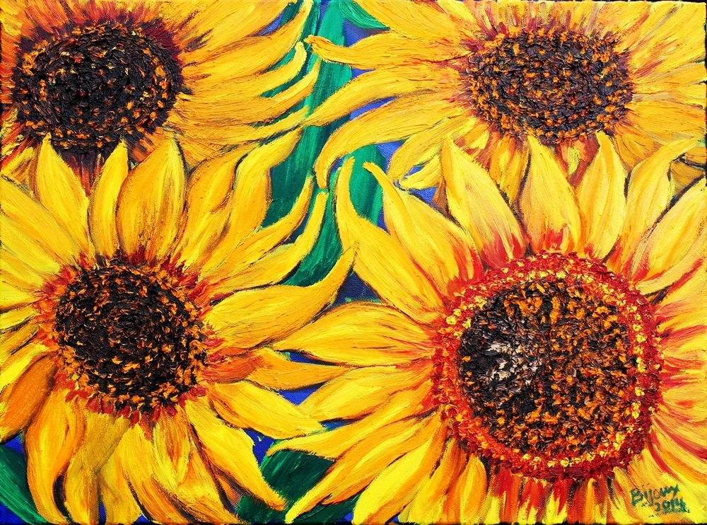 Sunflowers Dancing
