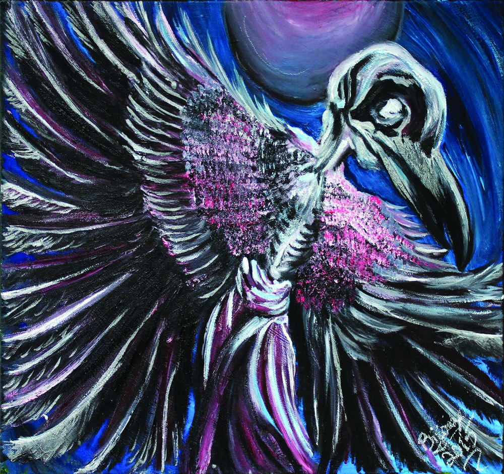 "Raven Dancer - $625 20"" x 24"" oil on canvas"