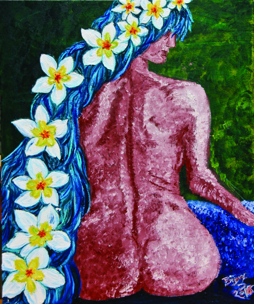 "Tangled in Jasmine - $625 24""x 20"" oil on canvas"