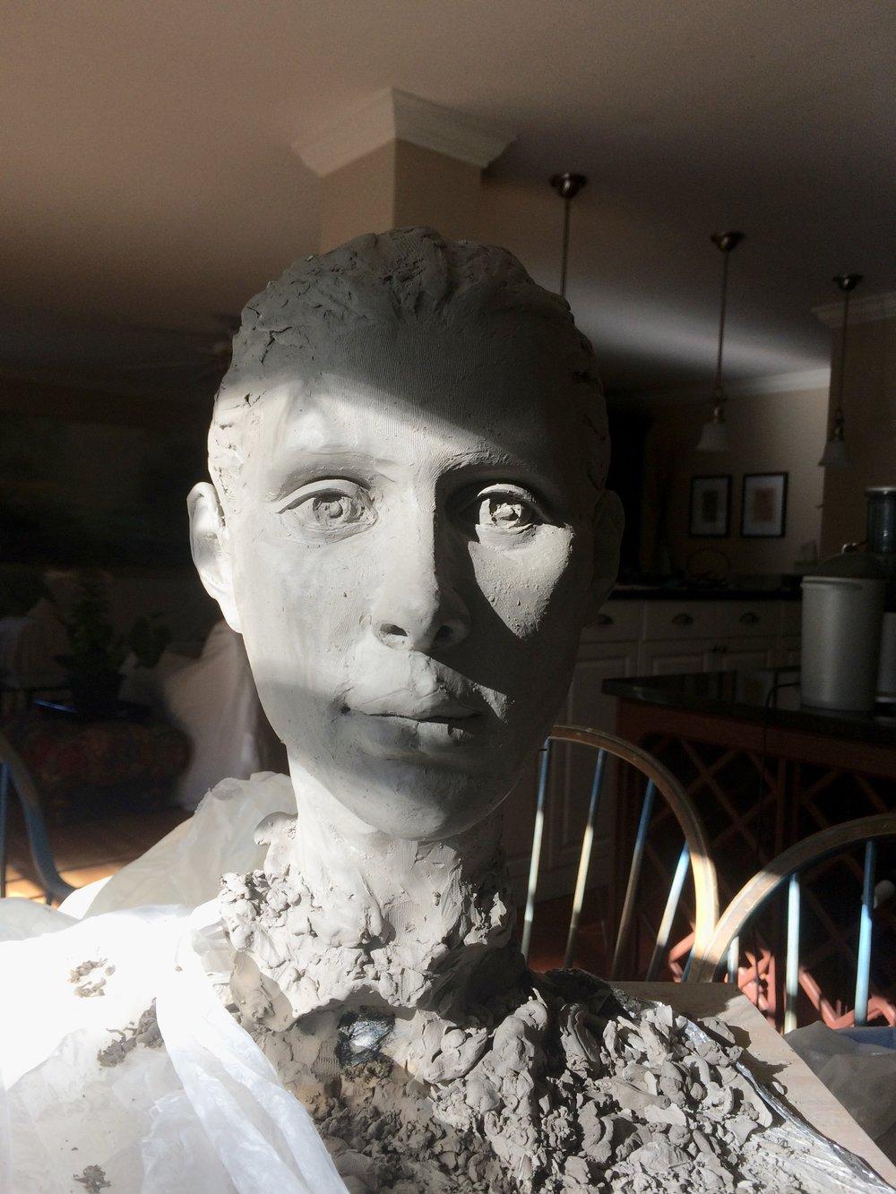 Margaret, 16', clay