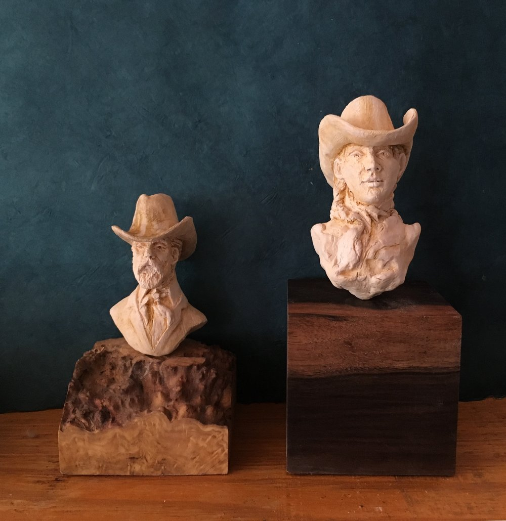 Clay Cowboy and Cowgirl