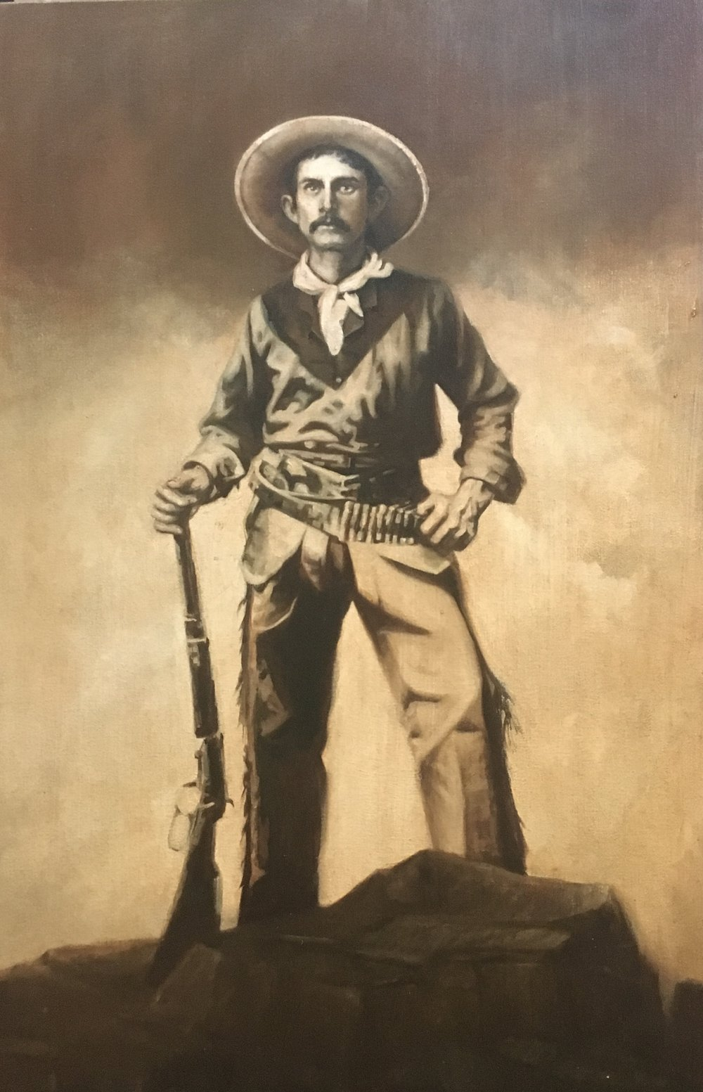 "Cowboy III, Oil on canvas, 36""x24"""