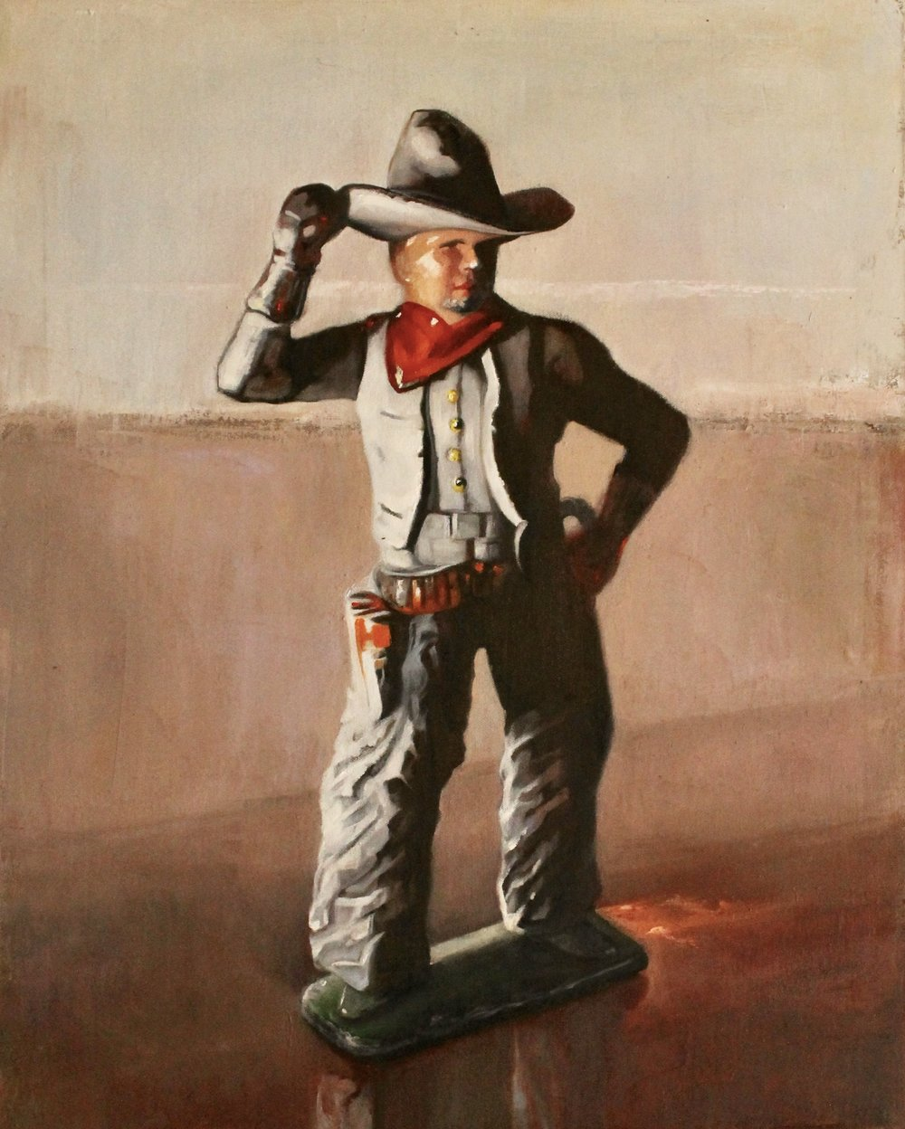 "The Constituent Cowboy, 30""x24"", oil on canvas"