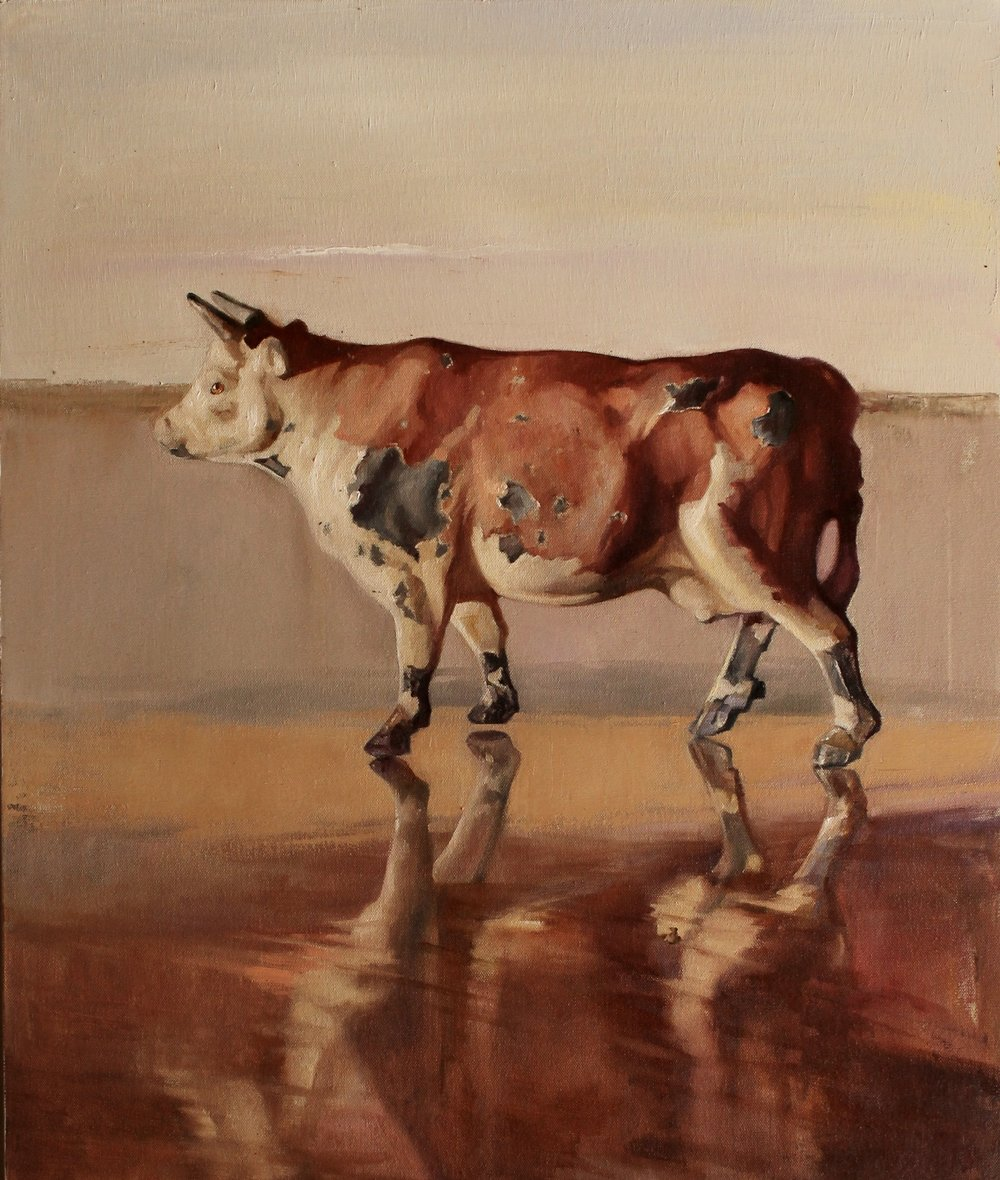 "The Constituent Cow, 30""x24"", oil on canvas"