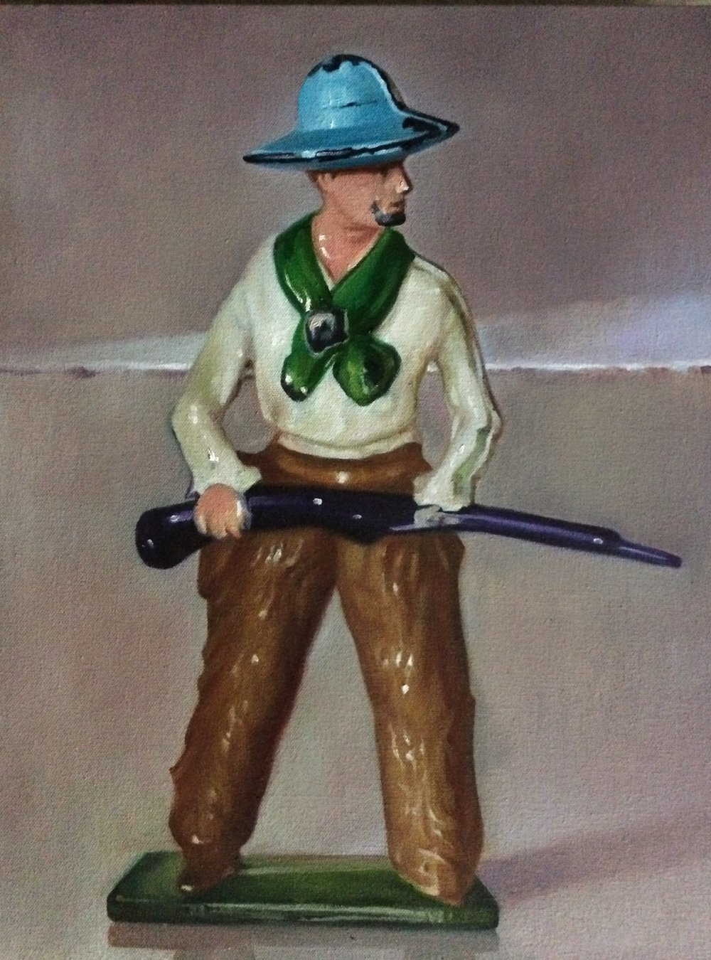 "The Handsome Constituent Cowboy, 20""x16"", oil on canvas"