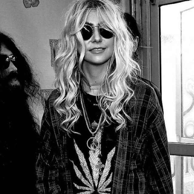 Dolorous Jewelry — Taylor Momsen wearing Dolorous Brass Oval Choker
