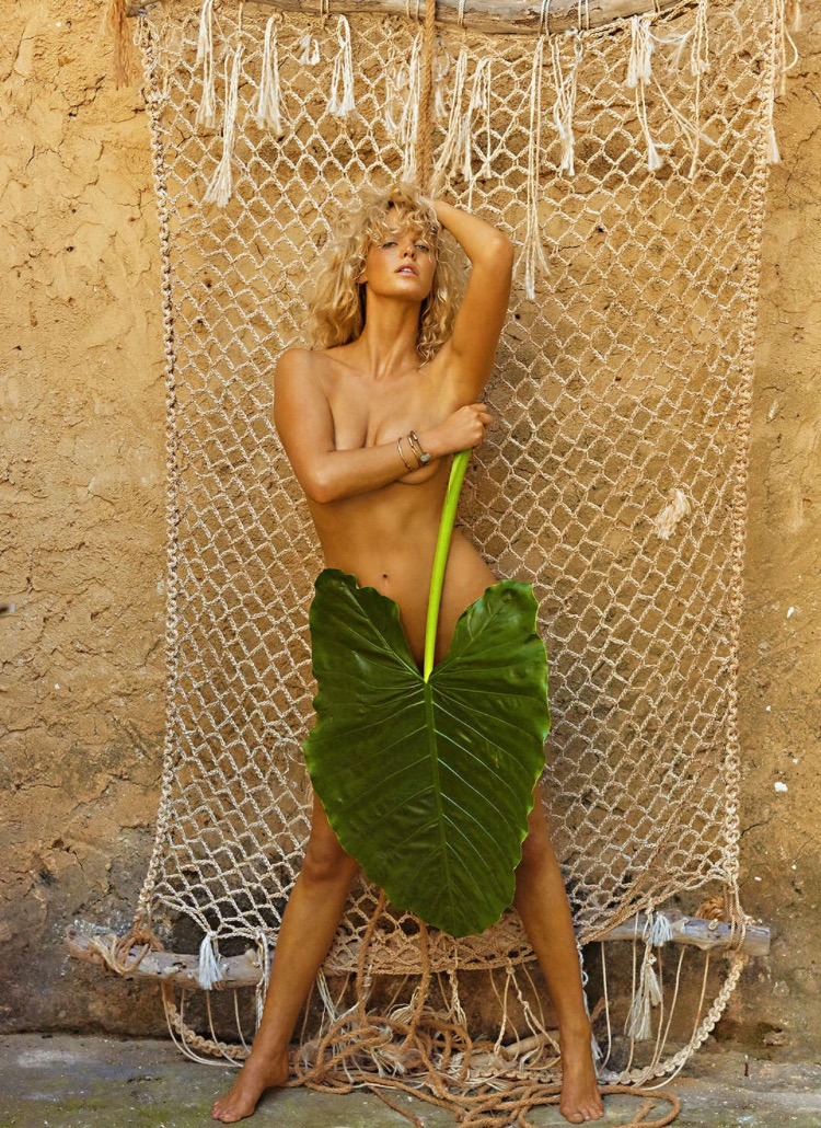 Dolorous Jewelry Labradorite Bangle worn by Erin Heatherton in the Sport Illustrated Swimsuit 2016 Magazine
