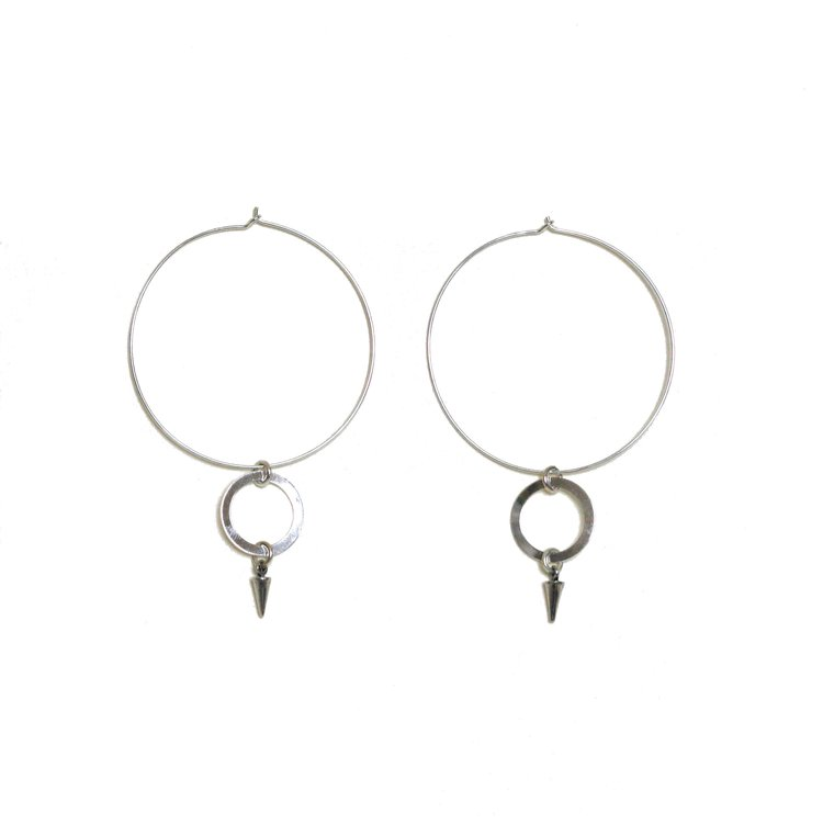 brushed auree olivera earrings sterling piccolo jewellery silver hoop