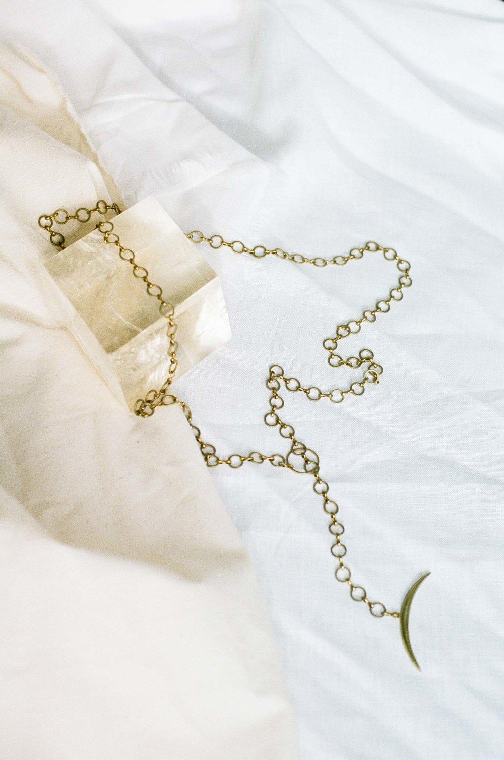 Dolorous Jewelry SS18 Lookbook 1 Brass Necklace.jpg