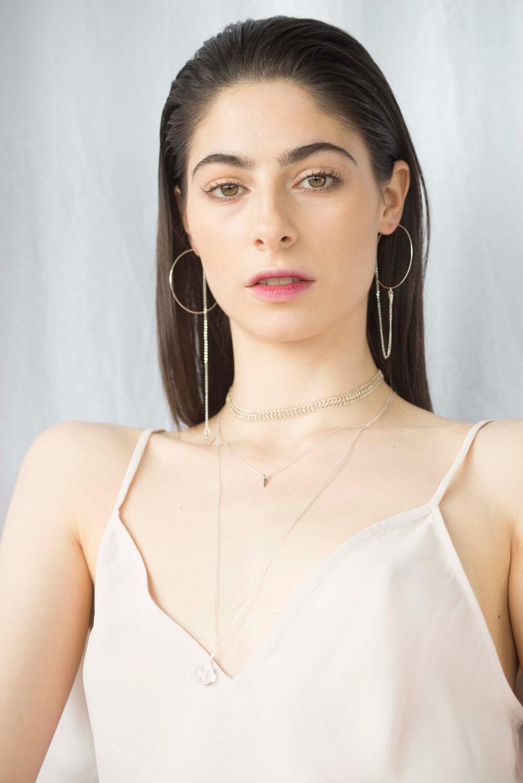 Dolorous Jewelry SS18 Lookbook Silver Necklace Silver Hoop Earrings 11.jpg