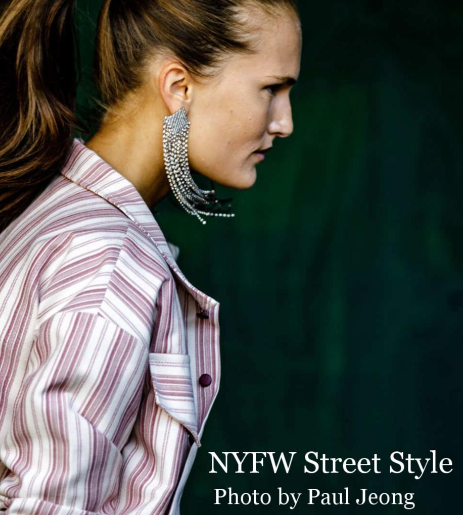 NYFW Street Style Statement Earrings Trend