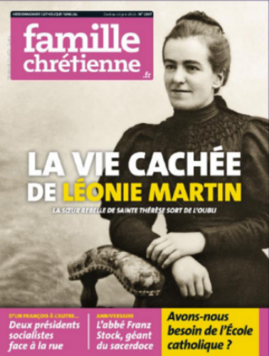 Cover of the June 8, 2013 issue of Famille Chretienne