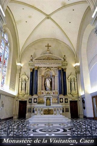 The sanctuary of the public chapel of the monastery of the visitation at caen.