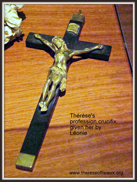 therese's crucifix, later given to Leonie for her profession