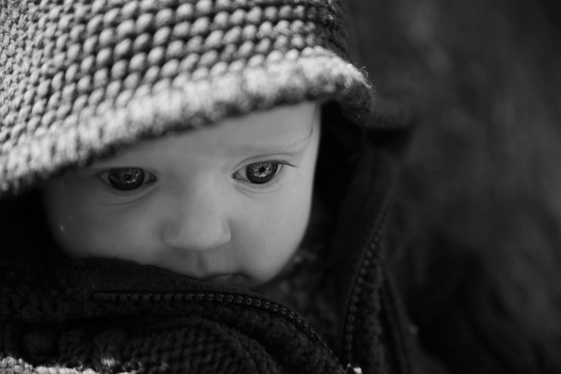 Hoodie baby | Maine Wedding and Portrait Photographer