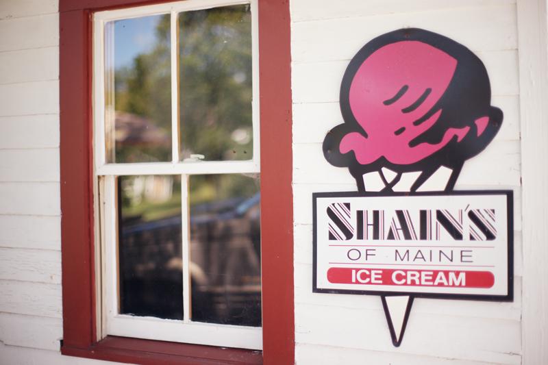 Shain's of Maine Ice Cream sign | Maine Wedding and Portrait Photographer
