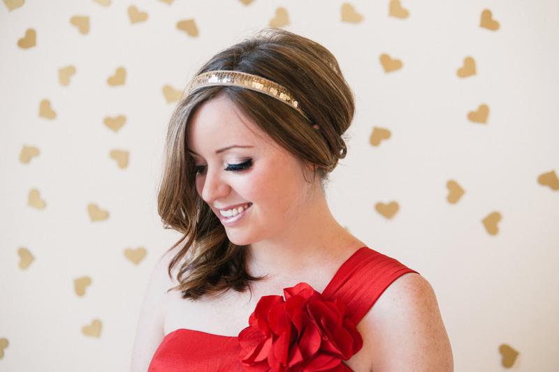 red-dress-gold-headband-minneapolis-fashion