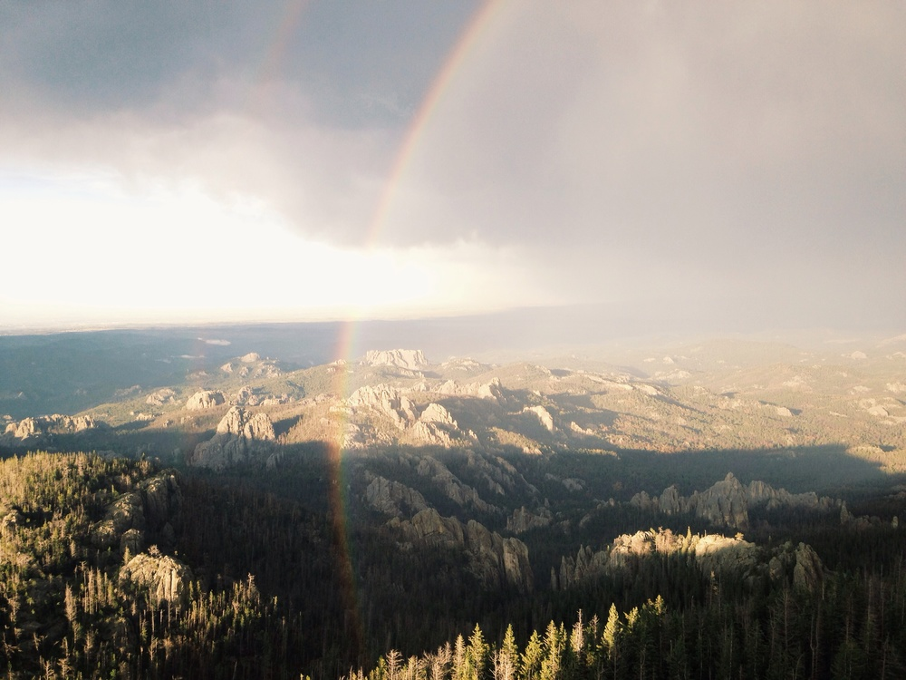 rainbow at harney peak black hills