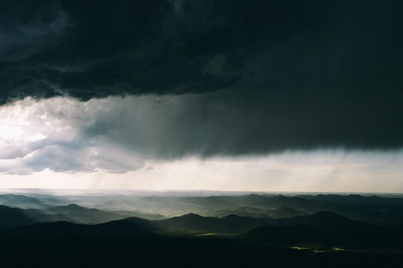 thunderstorm over black hill
