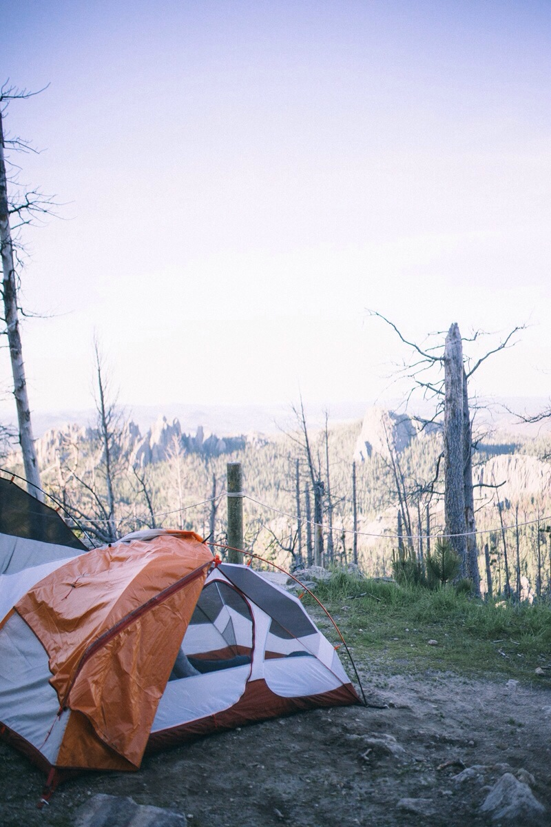 tenting in the black hills
