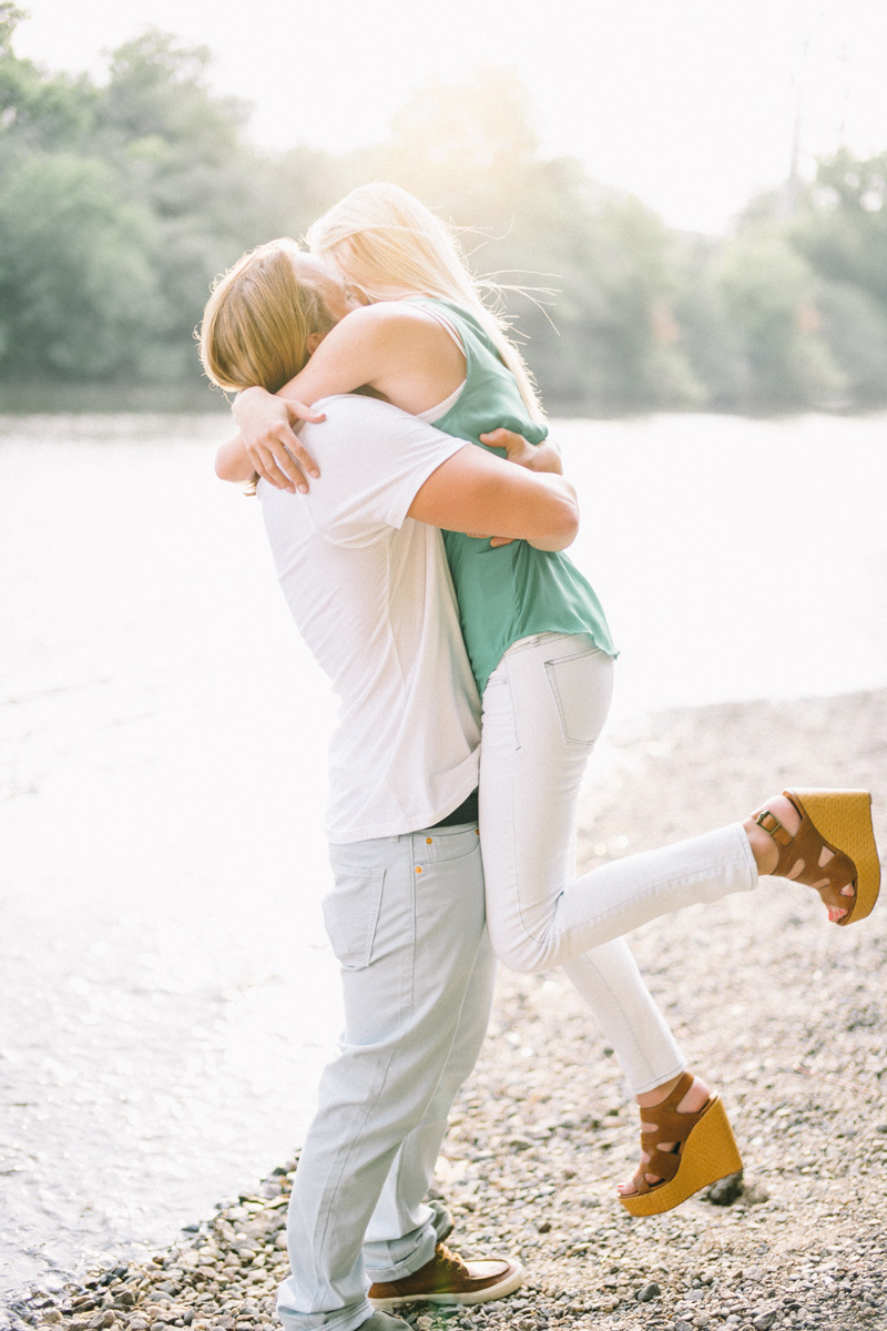 engagement photos by the river minneapolis