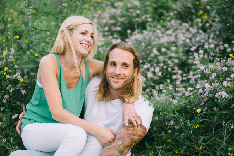 wild flower engagement photos