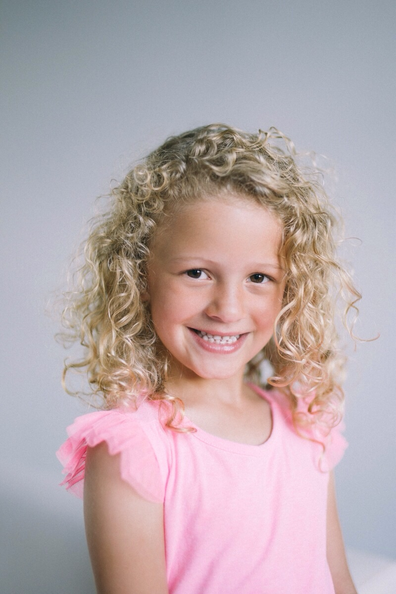 studio headshots for children model