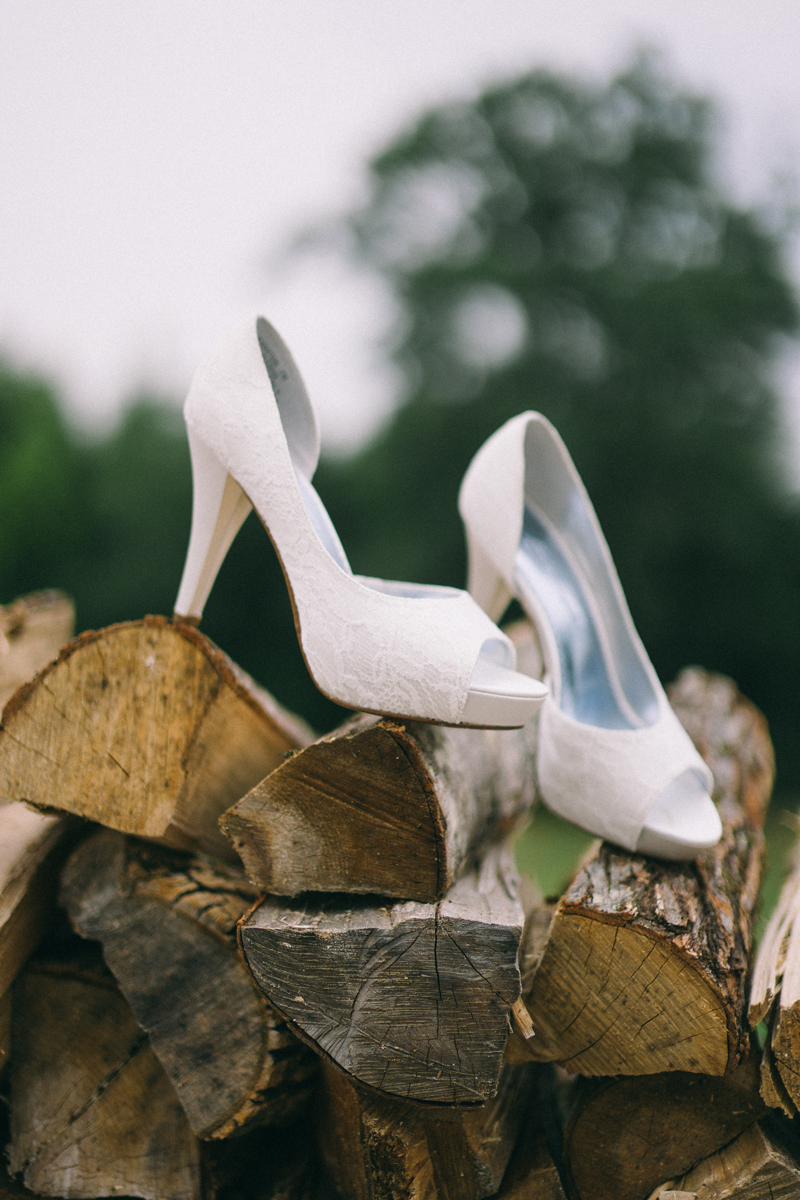 Minneapolis wedding photography of wedding shoes