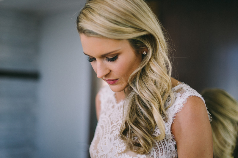 Bride getting ready at Hotel Ivy Minneapolis