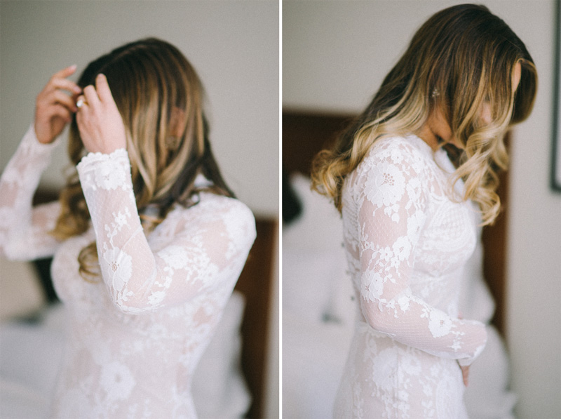 St Paul bride getting ready