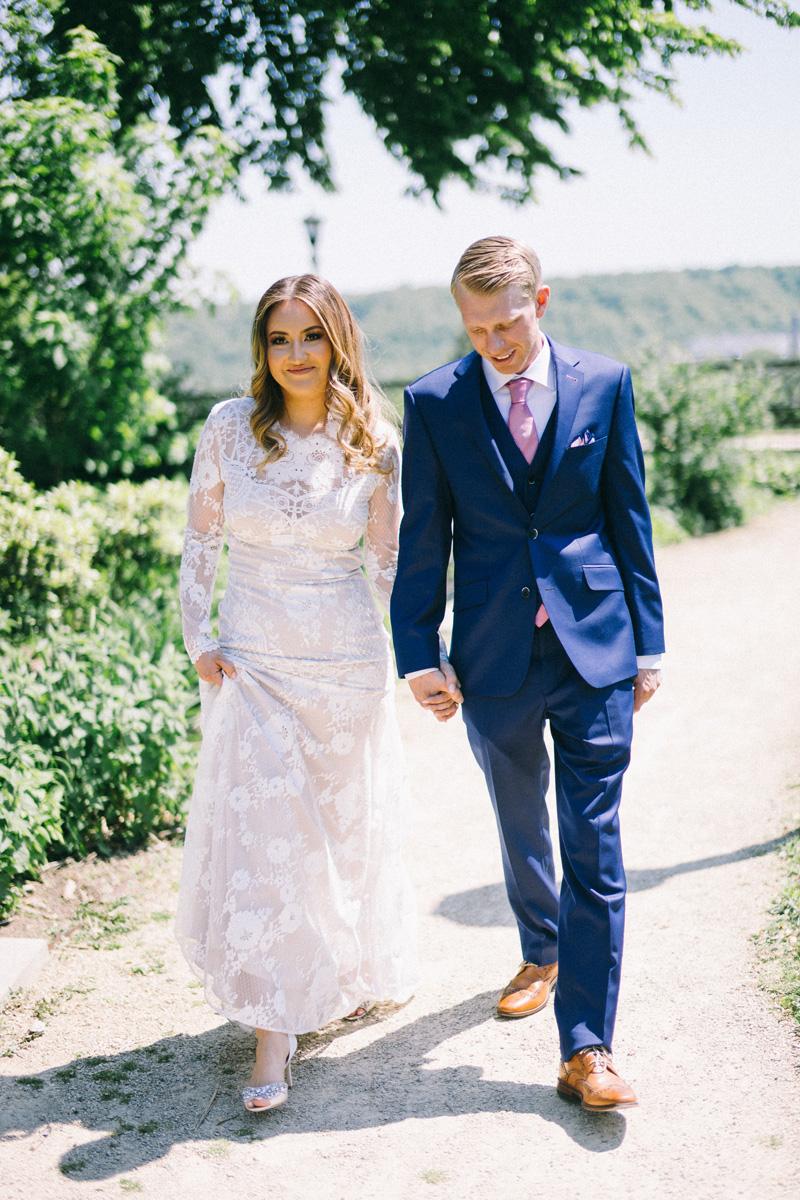 Bride and groom in St Paul Minnesota