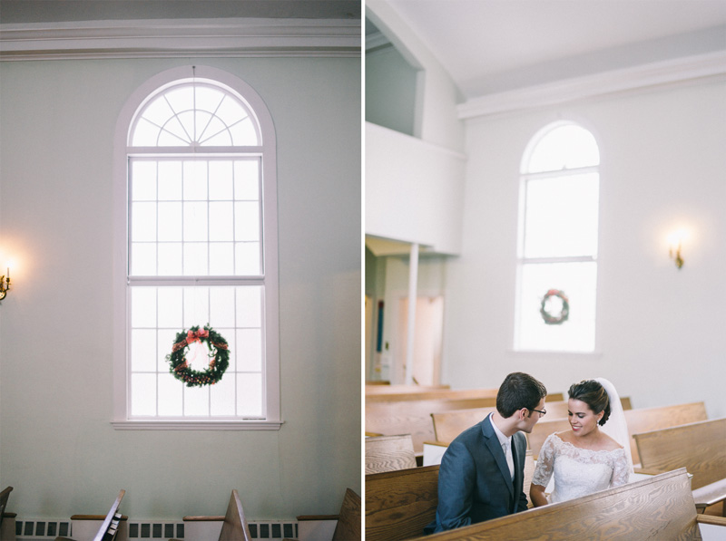 Freeport Maine winter wedding