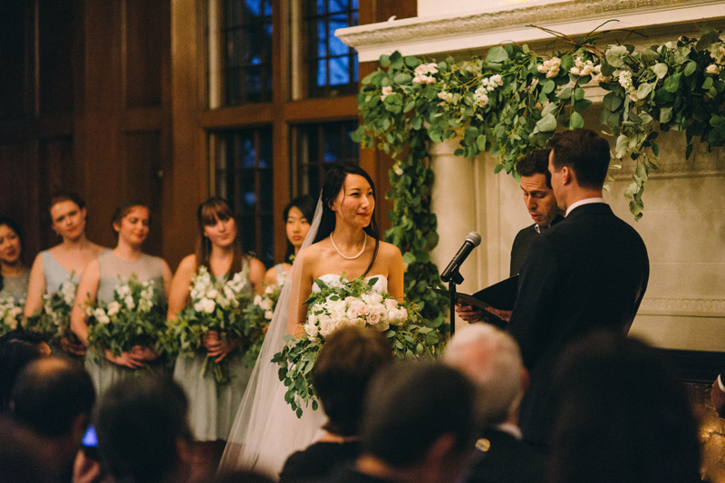 St Paul winter wedding ceremony