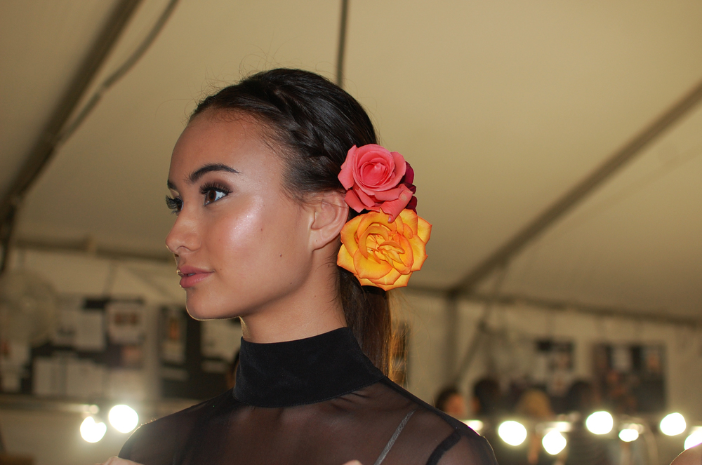 Judiciously placed highlighter gives model Nicole Chinuntdet a fairy-like glow