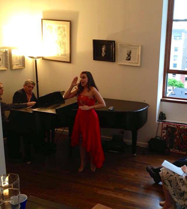 "Performing ""Les Oiseaux dans la Charmille"" from the Tales of Hoffmann with Peter Breiner."