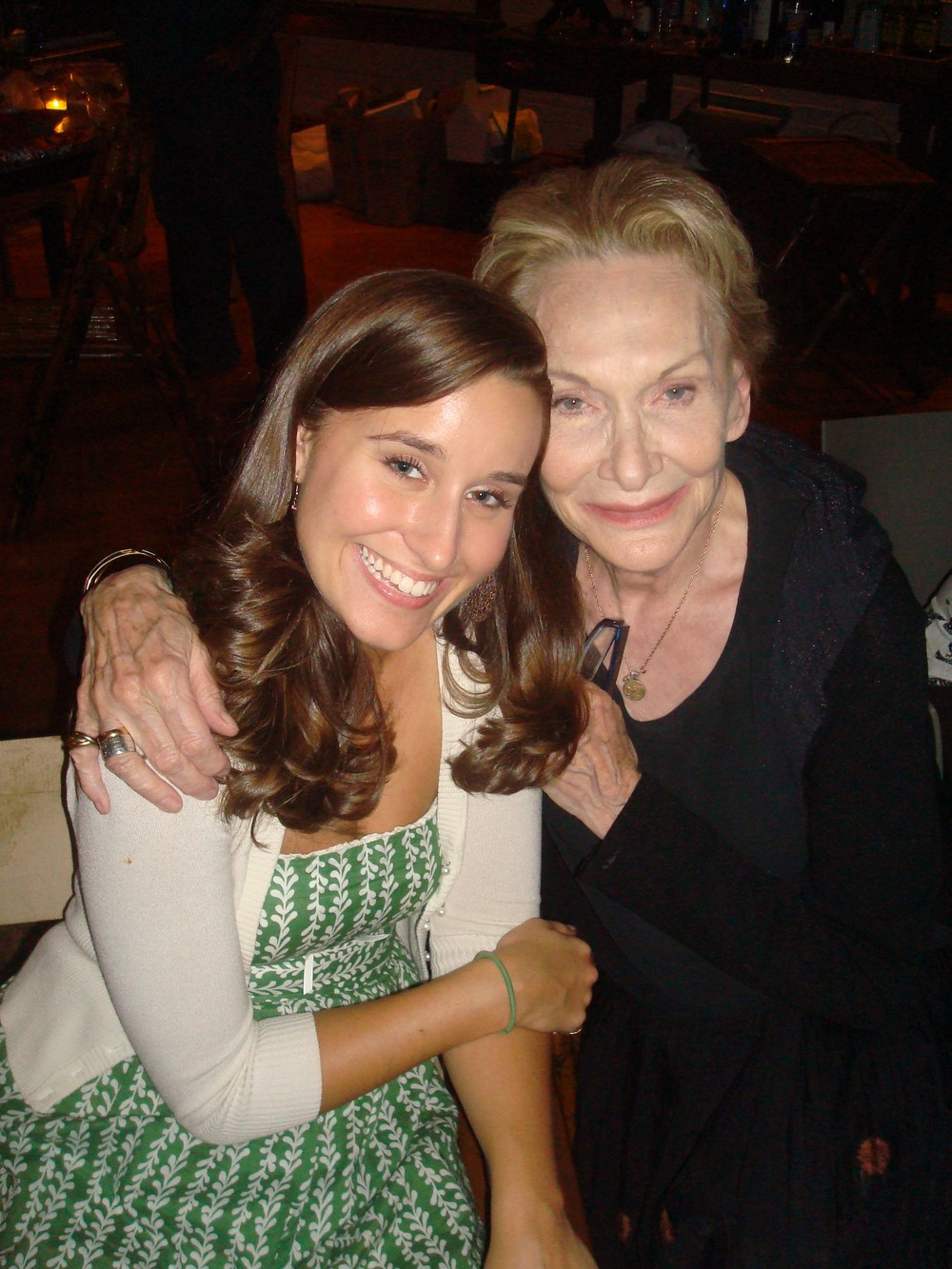 Lauren with Sian Phillips