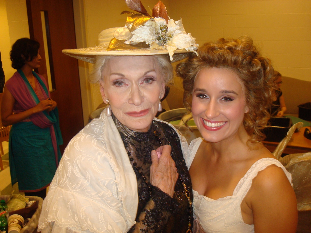 with Sian Phillips backstage of A Little Night Music