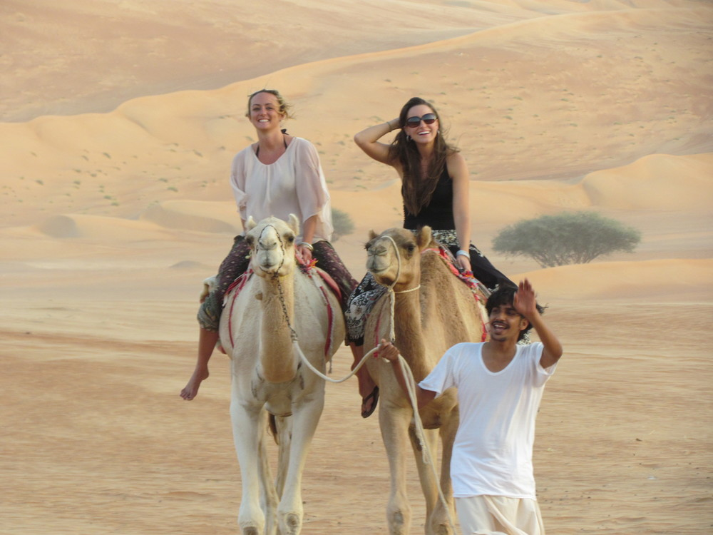 Riding camels!