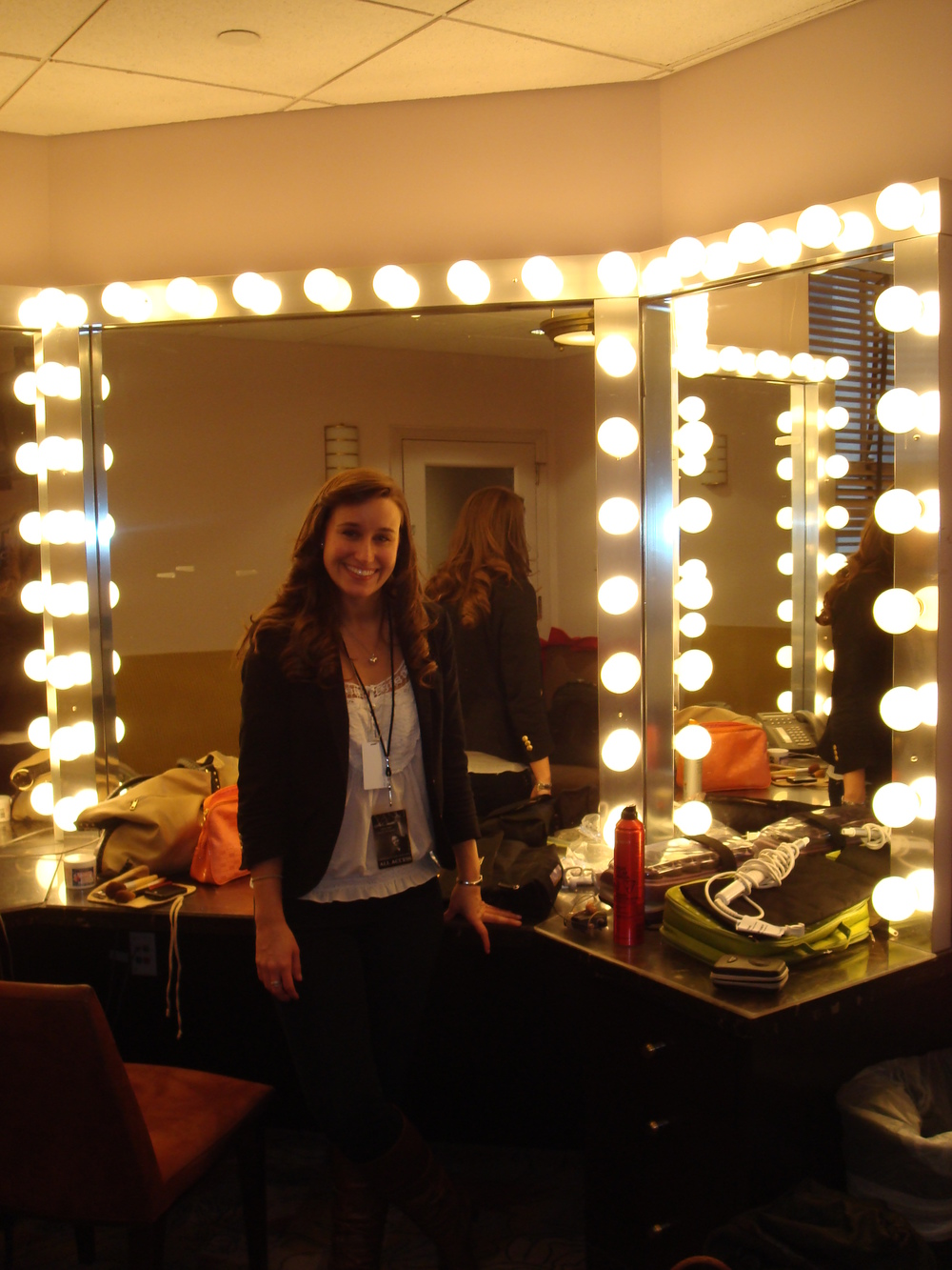 In the dressing room at Radio City Music Hall