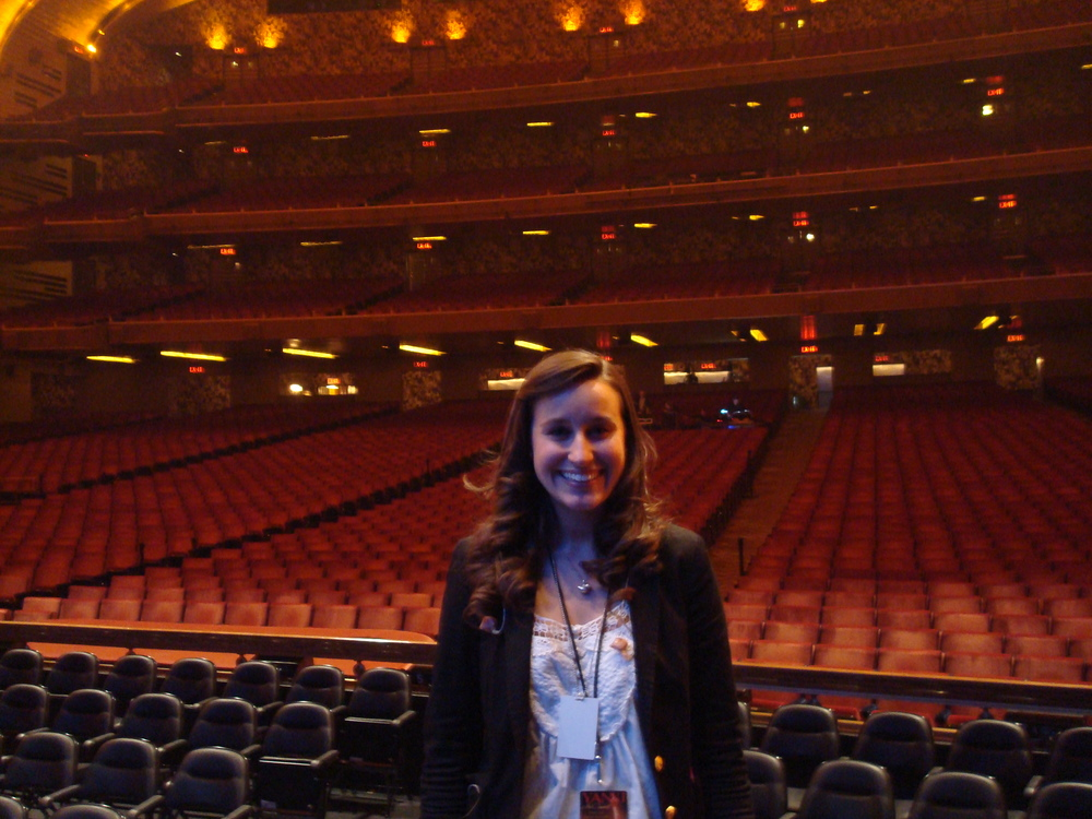 On stage after sound check at Radio City Music Hall!
