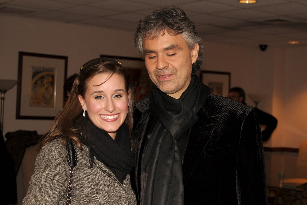Lauren with Andrea Bocelli