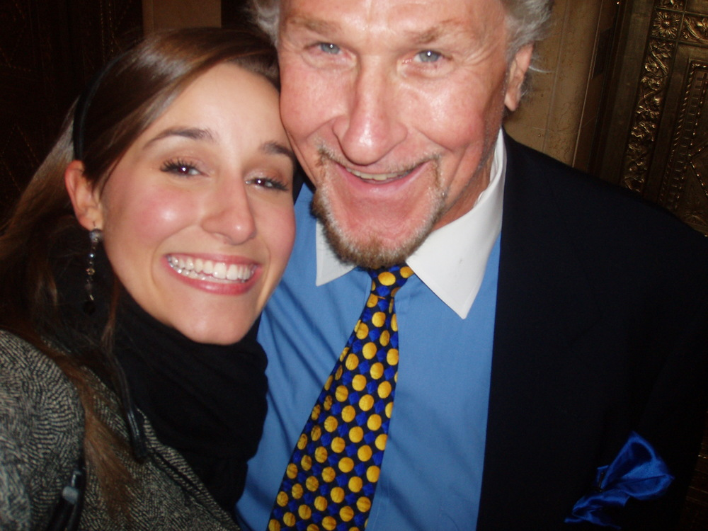 Lauren with legendary opera baritone, Sherrill Milnes.