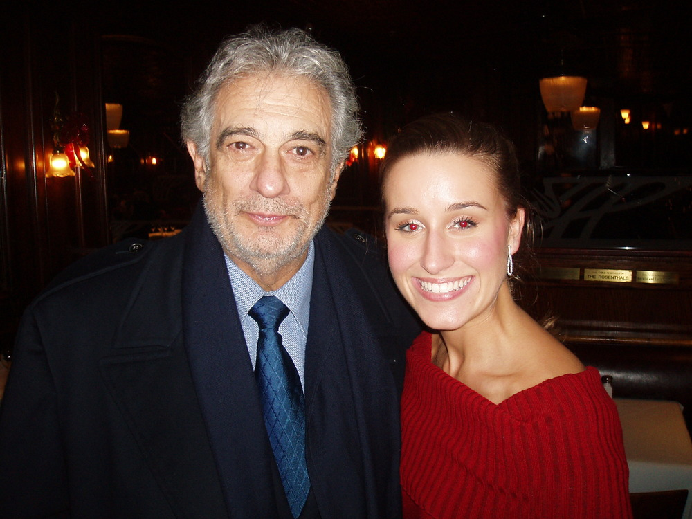 Lauren with legendary opera singer, Placido Domingo