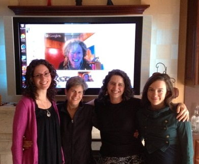 March 2013 with Colleen Flowers, Michal Schonbrun, Toni Weschler, Kati Bicknell, Sarah Bly (virually), and Ilene Richman (not pictured)