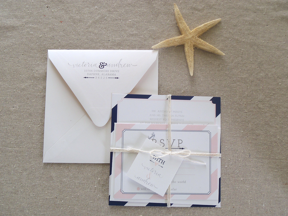 Flat Printing Wedding Invitation Suite — Victoria Austin Designs ...