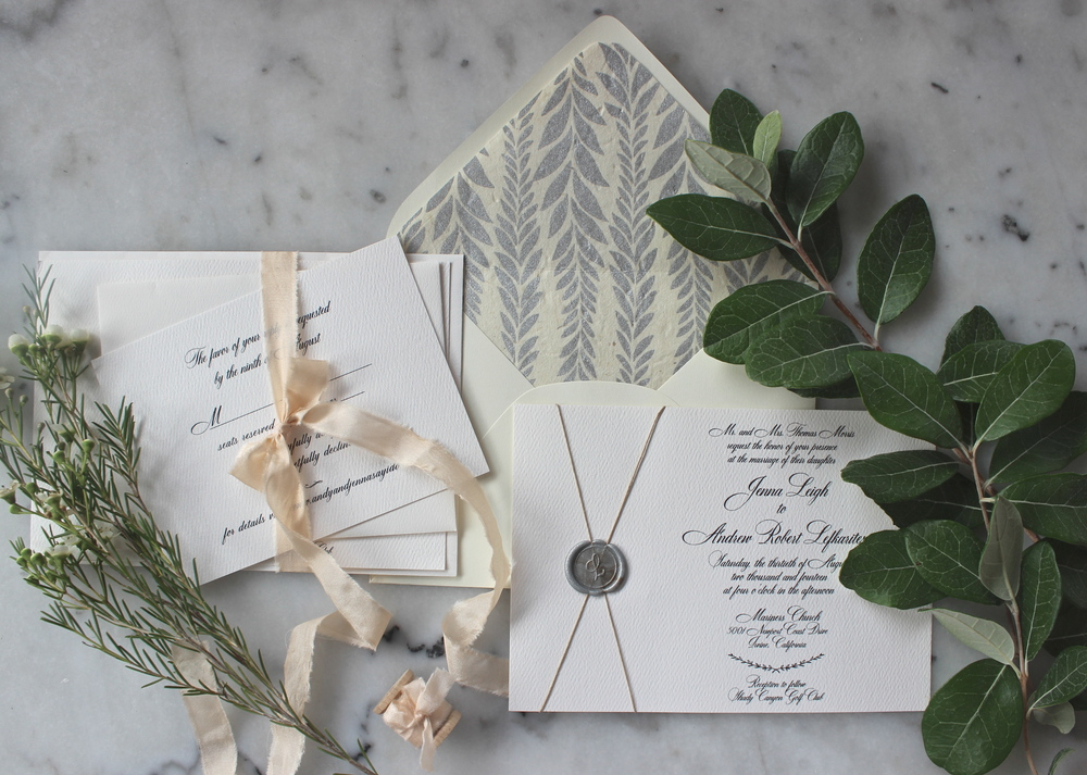 Jenna & Andrew | Wax Seal Invitation Suite — Victoria Austin Designs ...